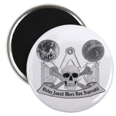 "Masonic virtue in black and white 2.25"" Magnet (10"