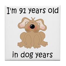 13 dog years 5 - 2 Tile Coaster