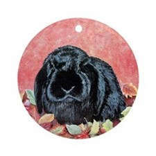 Holland Lop Rabbit Ornament (Round)