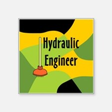 "Engineer Plunger Block Square Sticker 3"" x 3"""