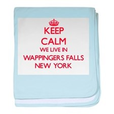 Keep calm we live in Wappingers Falls baby blanket