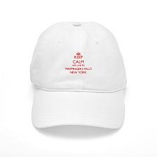 Keep calm we live in Wappingers Falls New York Baseball Cap