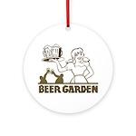 Beer Garden Ornament (Round)