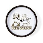 Beer Garden Wall Clock