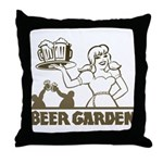 Beer Garden Throw Pillow