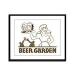 Beer Garden Framed Panel Print
