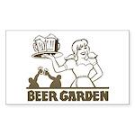 Beer Garden Rectangle Sticker