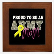 Proud to Be Army Mom Framed Tile