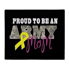 Proud to Be Army Mom Throw Blanket
