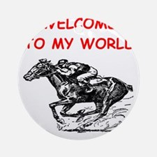 horse racing Ornament (Round)