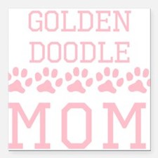 "Goldendoodle Mom Square Car Magnet 3"" x 3"""