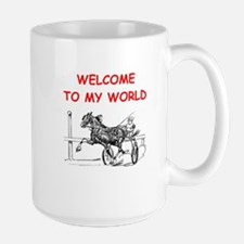 harness racing Large Mug