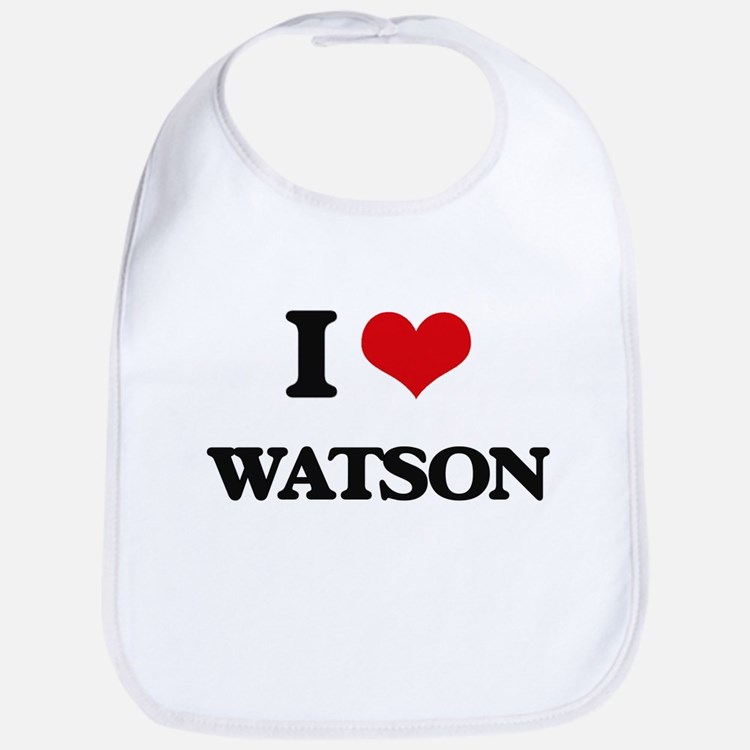 I Love Watson Bib