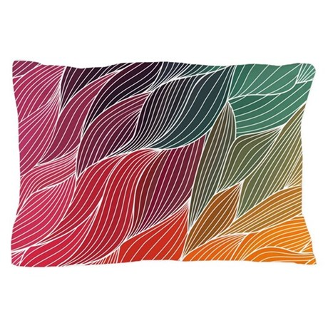 multi colored waves abstract design