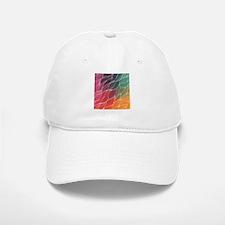 Multi Colored Waves Abstract Design Baseball Baseball Cap