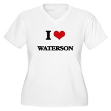I Love Waterson Plus Size T-Shirt