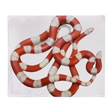 Albino Milk Snake Throw Blanket