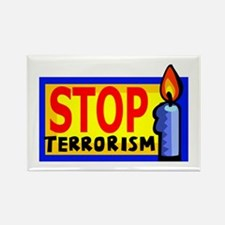 Stop Terrorism Rectangle Magnet