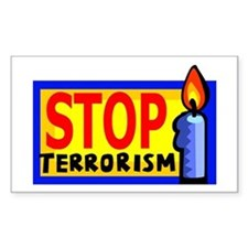 Stop Terrorism Rectangle Decal