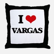 I Love Vargas Throw Pillow
