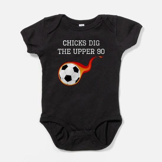 Chicks Dig The Upper 90 Baby Bodysuit