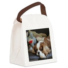 Cute Cavalier king charles spaniel tri lunch Canvas Lunch Bag