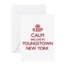 Keep calm we live in Youngstown New Greeting Cards