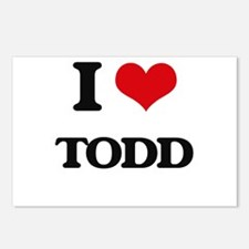 I Love Todd Postcards (Package of 8)