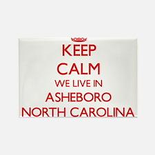 Keep calm we live in Asheboro North Caroli Magnets