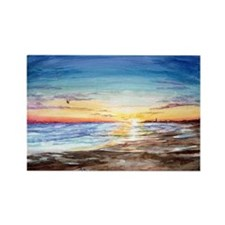 Cape May Sunset Rectangle Magnet