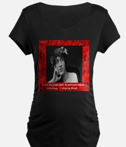 Virginia Woolf On Love Maternity T-Shirt