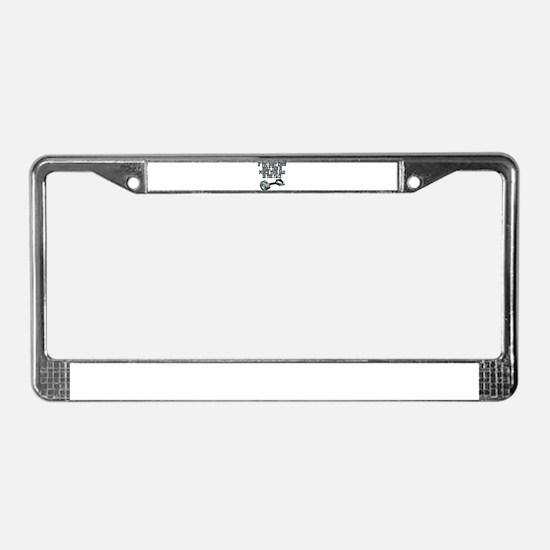 piston License Plate Frame
