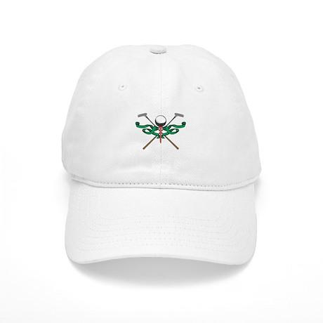 Green Ribbon Golf Emblem Cap