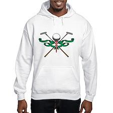 Green Ribbon Golf Emblem Hoodie