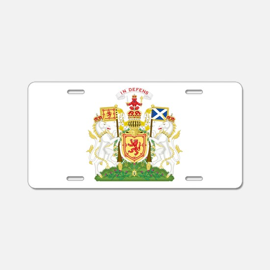 Coat of Arms Kingdom of Sco Aluminum License Plate
