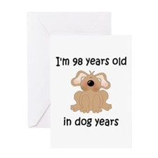 14 dog years 5 - 2 Greeting Cards