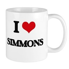 I Love Simmons Mugs