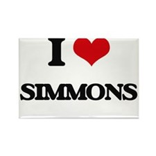 I Love Simmons Magnets