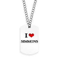 I Love Simmons Dog Tags