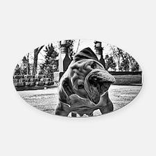 Dudley English Bulldog Oval Car Magnet