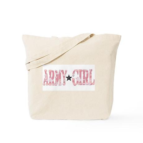 army girl pink camo Tote Bag