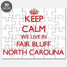 Keep calm we live in Fair Bluff North Carol Puzzle