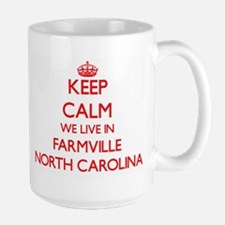 Keep calm we live in Farmville North Carolina Mugs