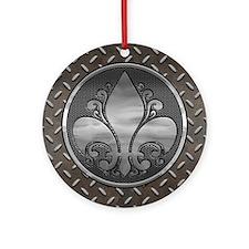 Fleur De Metal Ornament (Round)