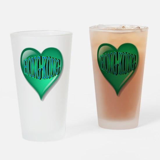 Hong Kong Heart Drinking Glass
