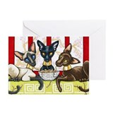 Siamese cat Greeting Cards (10 Pack)