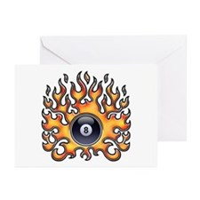 Flaming 8 Greeting Cards (Pk of 10)