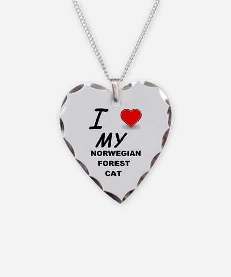 norwegian forest cat love Necklace