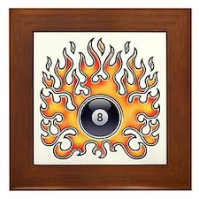 Flaming 8 Framed Tile