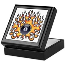 Flaming 8 Keepsake Box